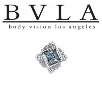 "BVLA 14kt & 18kt Gold ""Beaded Princess 2mm"" Threaded End 18g 16g 14g 12g Body Vision Los Angeles"