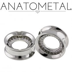 Anatometal Surgical Steel Orbit Multi Gem Eyelet Tunnel 0g - 2""
