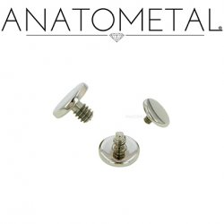 Anatometal Surgical Steel Threaded Disk Flat Back End 18g 16g 14g 12g