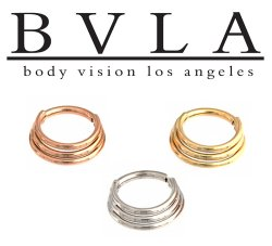 Bvla Mini Moody 14kt 14 Karat Gold Septum Clicker Ring 16 Gauge