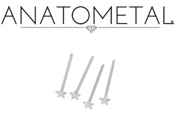 Anatometal Surgical Stainless Steel Star Nostril Screw Nose Ring Nail 20 gauge 18 Gauge 20g 18g