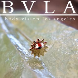 BVLA 14kt Gold 5mm Sun Nostril Screw Nose Ring Bone Nail Stud 20g 18g 16g Body Vision Los Angeles