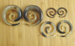 "Organic Golden Horn Super Spirals 10g-1/2"" (Pair) 2.5mm-12.5mm"