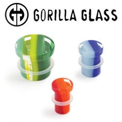 "Gorilla Glass Single Flare Linear Ear Plugs 0 Gauge to 1"" (Pair)"