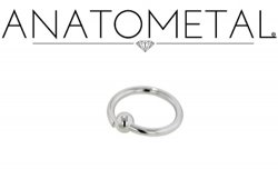 Anatometal Surgical Stainless Steel Fixed Bead Ring 12 Gauge 12g