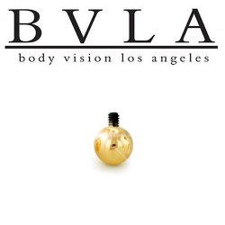 BVLA 14kt Gold Threaded Ball End 18 Gauge 18g Body Vision Los Angeles
