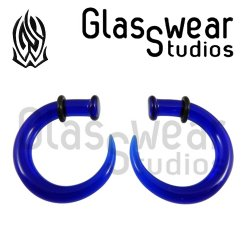Glasswear Studios Glass Claw Hanging Design Pair 8g - 00g