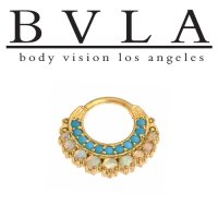 "BVLA 14kt Gold ""Marilyn"" Nose Nostril Septum Clicker Hinge Ring 14 Gauge 14g Body Vision Los Angeles"