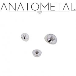 Anatometal Titanium Threaded Dome End 12 gauge 12g