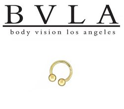 BVLA 14kt Gold Circular Barbell 12 Gauge 12g Body Vision Los Angeles