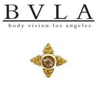 "BVLA 14kt Gold ""Desimone"" 6.5mm Threaded End Dermal Top 18g 16g 14g 12g Body Vision Los Angeles"