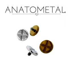 Anatometal Titanium Phillips Head Threaded Disk 10g 8g 6g 4g
