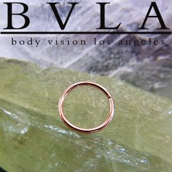 BVLA 14kt & 18kt Gold Seam Ring 18 Gauge 18g Body Vision Los Angeles