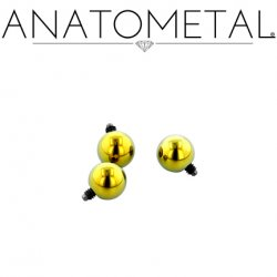 Anatometal Titanium Threaded Ball End 18 Gauge 18g