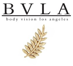 "BVLA 14kt & 18kt Gold ""Fern"" Threaded End 18g 16g 14g 12g Body Vision Los Angeles"