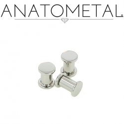 "Anatometal Stainless Surgical Steel Solid Plug Removable Disk 10g 8g 6g 4g 2g 0g 00g 7/16"" 1/2"""
