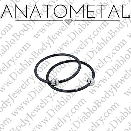 Anatometal Niobium Captive Ring With
