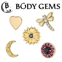 Body Gems Gold Threaded Ends