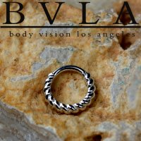 "BVLA 14kt Gold ""Desiree"" Daith Septum Nose Seam Ring 20 Gauge 20g Body Vision Los Angeles"