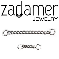 Zadamer Titanium Chain for Body Piercing 20g 18g 16g 14g