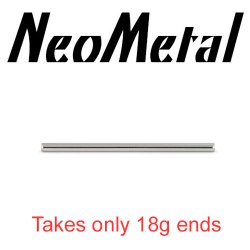 "16 Gauge 16g NeoMetal Threadless Titanium Ear Rod Industrial Barbell Shaft (Accepts Only 25g Pin Threadless Ends) ""Press-fit"""