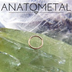 Anatometal 18kt Gold Seam Continuous Seamless Ring 20 Gauge 20g