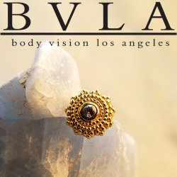 "BVLA 14Kt Gold ""Afghan"" Threadless End 18g 16g 14g ""Press-fit"""