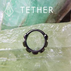 "Tether Jewelry Stainless Steel ""Hellas"" Clicker 14 Gauge 14g"