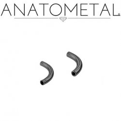 Anatometal Niobium Internally Threaded Curved Barbell (Shaft Only, No Ends) 10g 8g