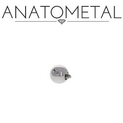 Anatometal Titanium Threaded Slave Dent Dimple Ball End 18 Gauge 18g