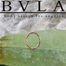 BVLA 14kt & 18kt Gold (Oval Seam Ring) 18 gauge 18g Body Vision Los Angeles