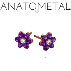 Anatometal Titanium 4mm Flower Earrings (Pair)