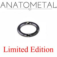 "Anatometal Niobium 1 & 3/16"" Segment Ring 8 Gauge 8g Limited Stock"