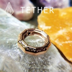 "Tether Jewelry Stainless Steel ""Olympica"" Hinged Ring Ear Weight 4 Gauge 4g"