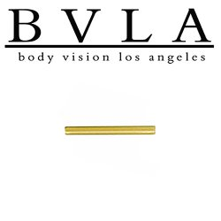 BVLA 14kt Gold Barbell (Shaft Only) 16 Gauge 16g Body Vision Los Angeles