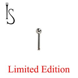 "Industrial Strength Stainless Surgical Steel Nose Bone Stud 1/4"" Length 3/32"" Ball 20 Gauge 20g Limited Stock"