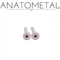 Anatometal Surgical Steel Single Flare Multi-Gem Eyelet 10 Gauge 10g