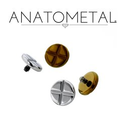 Anatometal Titanium Phillips Head Threaded Disk 2g 0g 00g