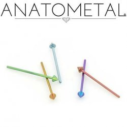Anatometal Titanium Spike Nostril Screw Nose Ring 18 gauge 20 Gauge 18g 20g