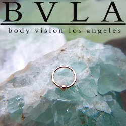 BVLA 18kt Gold Fixed Bead Rings 20 gauge 20g Body Vision Los Angeles