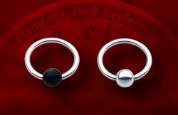 Body Circle Surgical Stainless Steel Captive Bead Ball Closure Ring 18 Gauge 18g