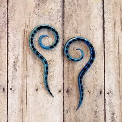 Glasshouse 33 Sea Serpent Spirals 8 Gauge 8g (Pair)
