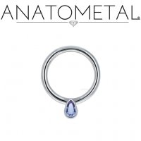 Anatometal 18kt Gold Pear Daith Septum Seam Ring 14 Gauge 14g