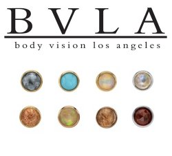 "BVLA 14kt & 18kt Gold ""Round Cup"" 5mm Threaded End 18g 16g 14g 12g Body Vision Los Angeles"