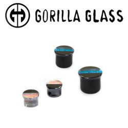 "Gorilla Glass Hybrid Deluxe Dichroic Single Flare Plugs 1/2"" to 1"" (Pair)"