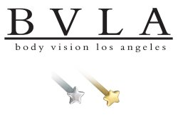 BVLA 14kt Gold 3mm Tiny Flat Star Nostril Screw Nose Bone Nail Stud 20g 18g 16g Body Vision Los Angeles