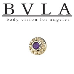 "BVLA 14kt Gold Tiny ""Nanda"" Nostril Screw Nose Bone Nail Ring Stud 20g 18g 16g Body Vision Los Angeles"