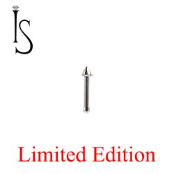 "Industrial Strength Stainless Surgical Steel Nose Bone Stud 1/4"" Length 1/16"" Spike 20 Gauge 20g Limited Stock"