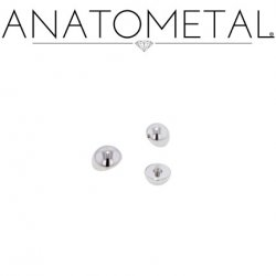 Anatometal Titanium Threaded Dome End 18 gauge 18g