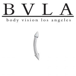 "BVLA 14kt Gold ""Spikes"" Curved Barbell 16 Gauge 16g Body Vision Los Angeles"